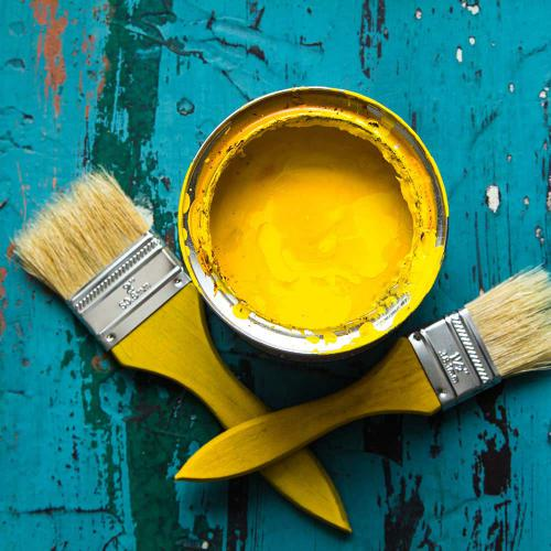 Yellow Paint can - Airdrie Paint and Decor